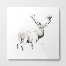 Highland Stag Metal Print