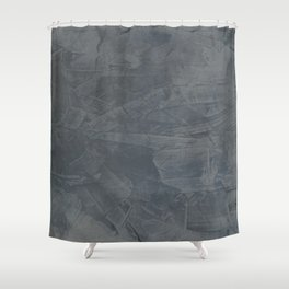Slate Gray Stucco - Faux Finishes - Rustic Glam - Corbin Henry Venetian Plaster Shower Curtain