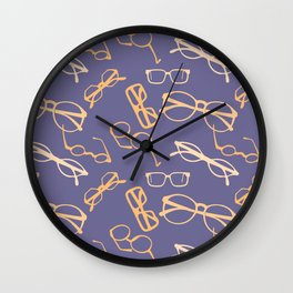 Orange Glasses Wall Clock