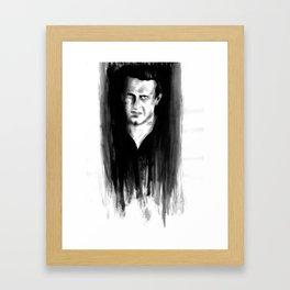 DARK COMEDIANS: Jason Segel Framed Art Print