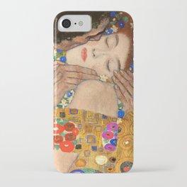 Gustav Klimt The Kiss, 1907 detail iPhone Case