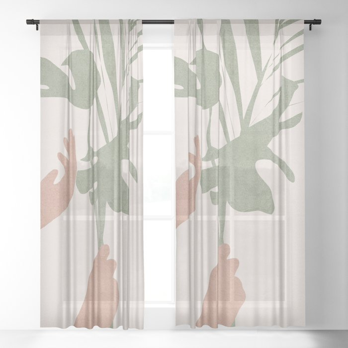 Leafs Sheer Curtain