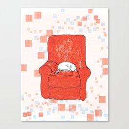 archie bunker nap Canvas Print