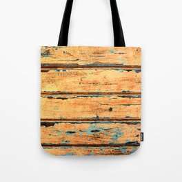Orange Planks, Wood Texture Decor Tote Bag