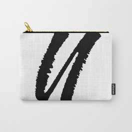 Letter U Ink Monogram Carry-All Pouch