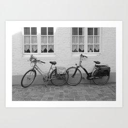 Bicycles in Bruges Art Print