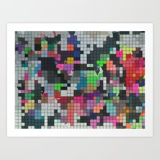 Be there or be Square Art Print