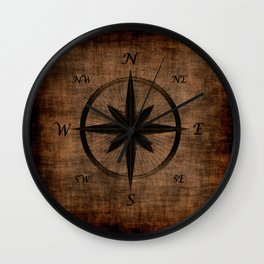 Nostalgic Old Compass Rose Wall Clock