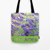 lavender Tote Bags featuring Lavender by Woolpecula