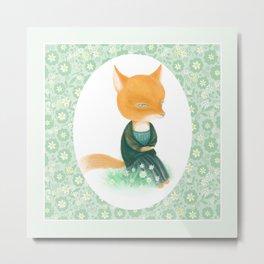 Fox Da Vinci Metal Print