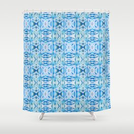Summer Vibes Tie Dye in Lagoon Blue Shower Curtain