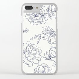 Vintage Roses x Springflowers Clear iPhone Case