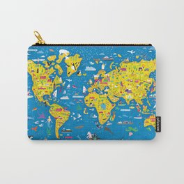 Big Fun World Map Carry-All Pouch