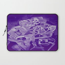 Halloween Skeleton Welcoming The Undead Laptop Sleeve