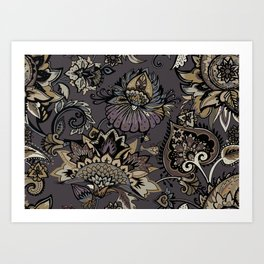 Lavelly paisley 2. Art Print