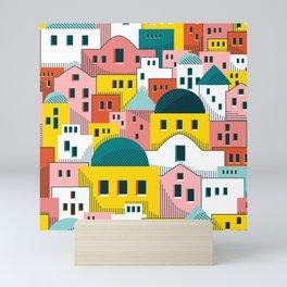 Santorini Sunset Mini Art Print