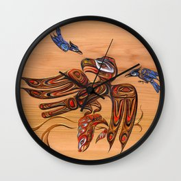 eagle and blue jays Wall Clock