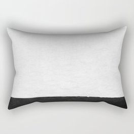 Painted Wall - Black on White Rectangular Pillow