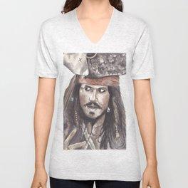 Black Pearl's Capt. Jack Sparrow Unisex V-Neck