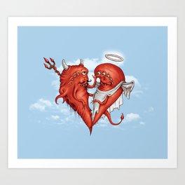 Love at fifth sight Art Print