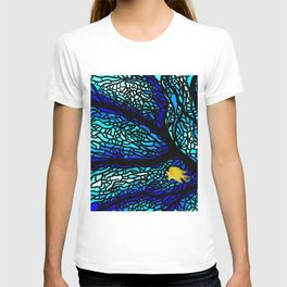 Sea fans diving coral stained glass T-shirt