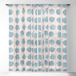 Beach Shell pattern, perfect for the summer Sheer Curtain