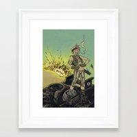 tank girl Framed Art Prints featuring Tank Girl by Vercher_Ink