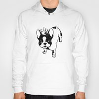 french bulldog Hoodies featuring French bulldog by Pendientera