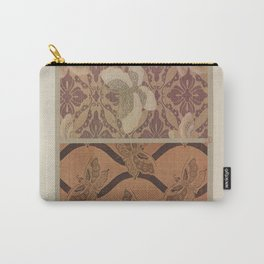 Verneuil - Japanese paper and fabric designs (1913) - 42: Ornamental butterflies Carry-All Pouch