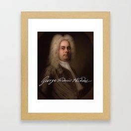 George Frideric (or Frederick) Handel (born Georg Friedrich Händel) by Balthasar Denner (c.1726–172 Framed Art Print