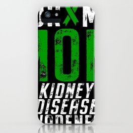 Kidney Disease Awareness Mom Ribbon iPhone Case