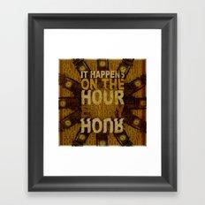 It happens!  Framed Art Print