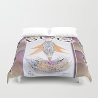 bug Duvet Covers featuring BUG by CrismanArt