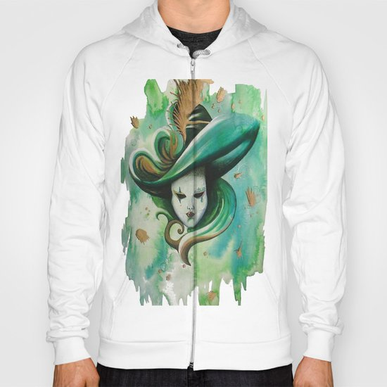 venetian mask green Hoody
