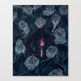 THE MURDERER Canvas Print