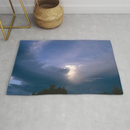 Ray of Hope in the Stormy Sky Rug