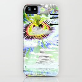 High Voltage on passionflower iPhone Case