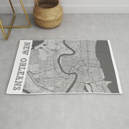 New Orleans Pencil City Map Rug