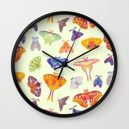 Moth - pastel Wall Clock