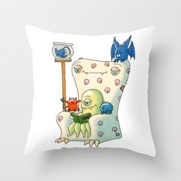Cosy Monster Evening Throw Pillow