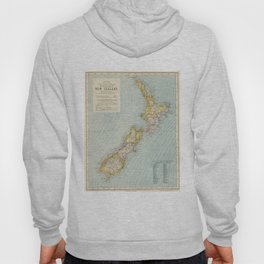Vintage Map of New Zealand (1883) Hoody