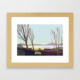 oregon in winter Framed Art Print
