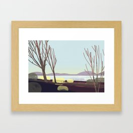 oregon in winter Framed Art Print