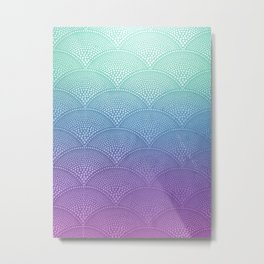 Purple & Turquoise Scallop Metal Print