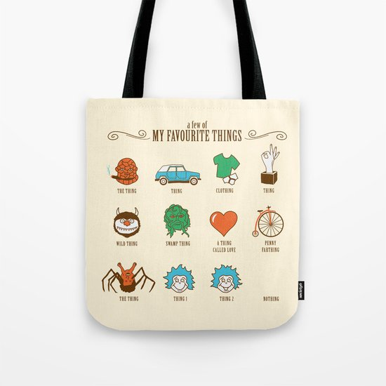 A Few Of My Favourite Things Tote Bag