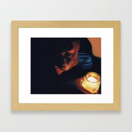 Candle girl Framed Art Print