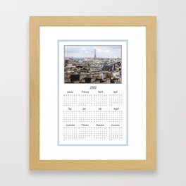 Paris 2013 Calendar Framed Art Print