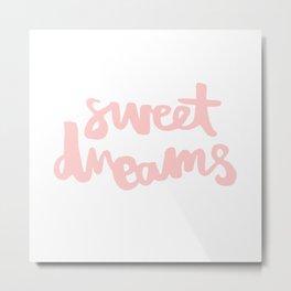 Sweet Dreams - Peach Metal Print