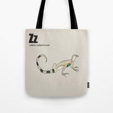 zebra-tailed lizard Tote Bag