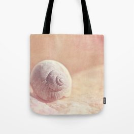 APRICOTEE - Monochrome still life with pink snail shell  Tote Bag